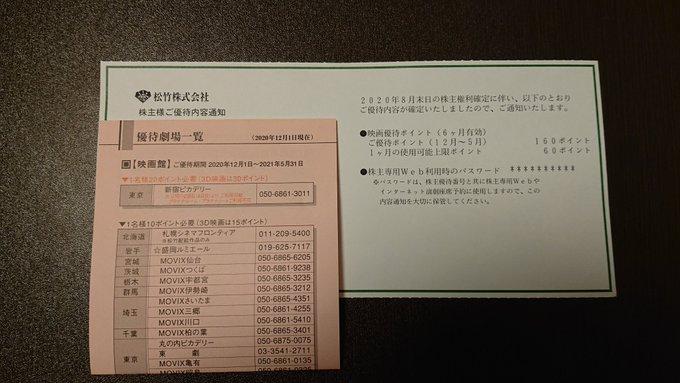 株主優待品 優待ポイント付与お知らせ