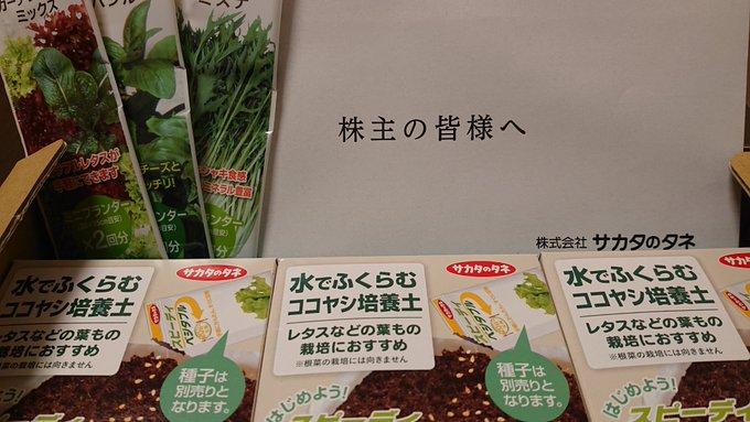 株主優待品 自社商品(野菜の種)の写真